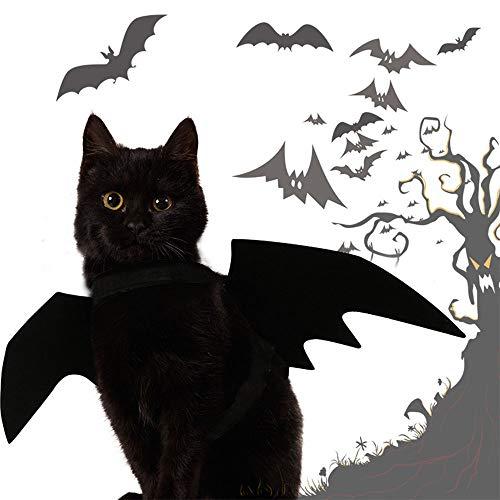 UNIIKE Gato alas de murcilago para el Vestido del Traje de la Navidad del Gato del ala potenciales Cuello Fiesta de Halloween para Perros Decoracin del Perrito de Cosplay Bat Accesorios hasta