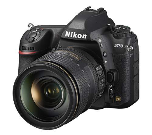Nikon D780 + AF-S NIKKOR 24-120 VR Reflex Digitale, 24.5 MP, CMOS FX Pieno Formato, 2 Slot Cart, Face Det AF Live View, Mirino Ottico, fino a 12 fps, Lexar SD 64 GB [Nital Card: 4 Anni di Garanzia]