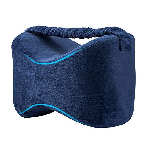 Almohadas para piernas con correa, Almohadas para dormir con de memoria para durmientes de lado, Almohada para la rodilla para el embarazo pierna Cadera