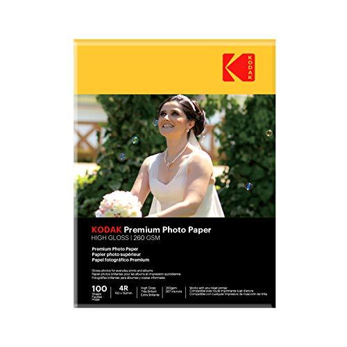 Kodak 260 GSM 4R Photo Paper High Glossy (1 x 100 Sheets)
