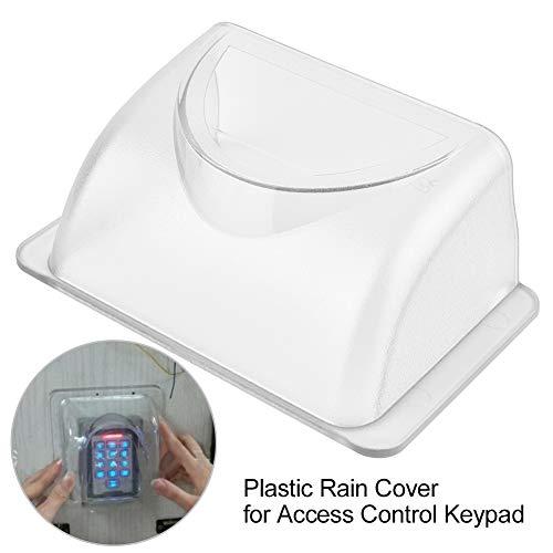 Sonew Regendichter Regenschutz aus Kunststoff für Türzugang, wasserdichte Schutzhülle für Zugriffskontrolltastatursteuerung