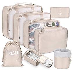 6x Aufbewahrungstasche Kofferorganizer Packwürfel Verpackung Wasserdichte Reise