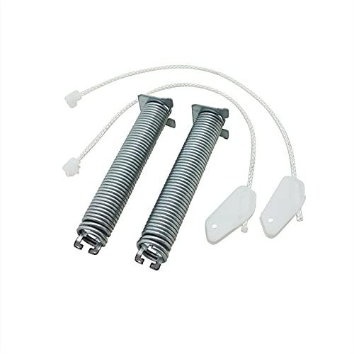 Lichtblau Türfedern Satz mit Seilzügen Reparatursatz passend für Bosch Siemens Constructa Viva 00754869 754869 Farbcode schwarz Türfederscharnier Spülmaschine