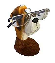 funny and unique wooden boxer dog eyeglasses holder