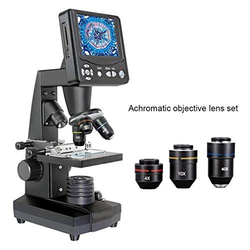 Microscopio Estudiante con LED1600X Ampliación Microscopio Biomédica Industrial Acuicultura Microscopio portátil