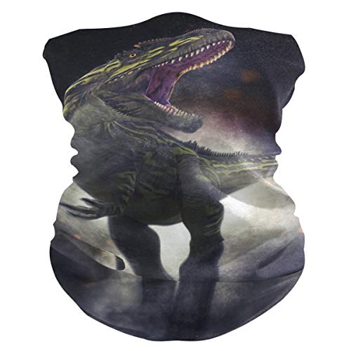 BOLIMAO Dino Tyrannosaurus Rex Gesichtsmaske, atmungsaktiv, multifunktional, waschbar, Kopfbedeckung, Halstuch, Schal für Sonne, UV Staub, Wind