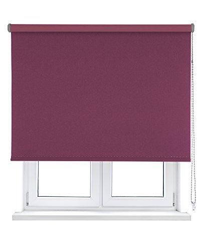 VIEWTEX Estor Enrollable Opaco/Black-out/OSCURANTE/Disponible EN Varias Medidas Y Colores (75_x_190_cm, Violet)