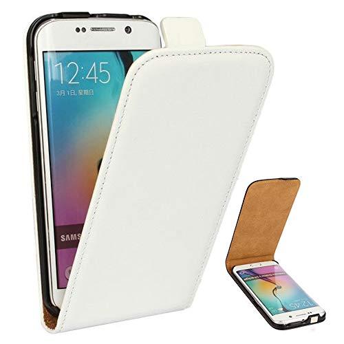 Roar Handy Hülle für Samsung Galaxy S4 Mini Handyhülle Weiß, Flipcase Schutzhülle Tasche für Samsung Galaxy S4 Mini, PU Lederhülle mit Magnetverschluß