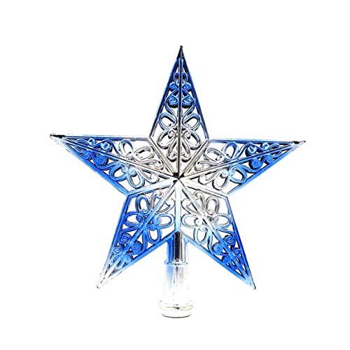 Fiween Árbol de la Estrella de Plata Azul de Navidad Primeros Decoración...