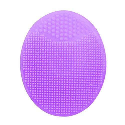 Bain Nettoyant Visage comédons visage Clean Shampooing silicone Brosse de douche massage Wash Pad visage Exfoliant Brosses Plum 6,5 x 5 x 2 cm