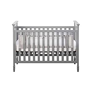 BreathableBaby Classic Breathable Mesh Liner for Solid End Cribs – Gray