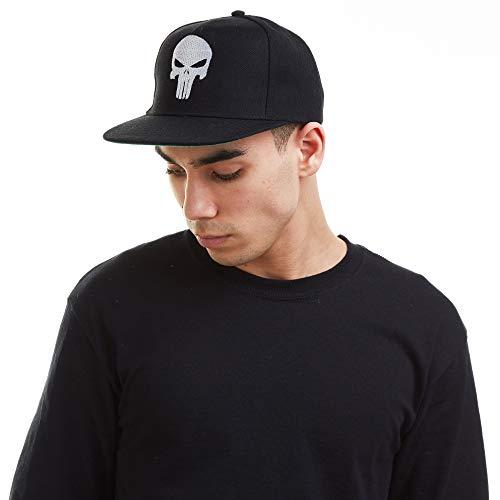 Marvel Herren Punisher Skull Snapback Trainingshose, Black, One Size