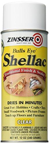 Rust-Oleum Zinsser 408 Bulls Eye Clear Shellac Spray 12 oz