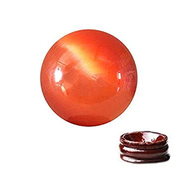 Feng Shui 1.6  Natural Quartz Cat Eye Crystal Healing Ball - Feng Shui Crystal Ball for Wealth and Protect The House Orange
