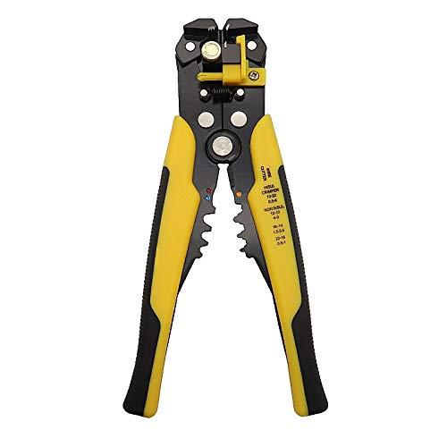 U/D Pimbuster Crimper Kabelschneider automatische Abisolierzange Multifunktions ABISOLIERWERKZEUGE quetschverbindenzangen Klemme 0.2-6.0mm2 Werkzeug (Color : Gelb)