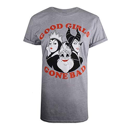 Disney Good Girls Gone Bad Villians Camiseta, Gris (Grey Marl SPO), 44 (Talla del Fabricante: X-Large) para Mujer