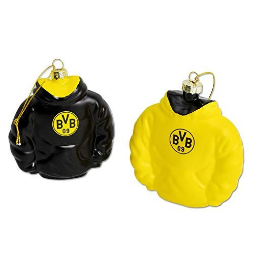 Borussia Dortmund BVB Christbaumkugeln/Christbaumschmuck ** Hoodie Baumschmuck ** 2er - Set
