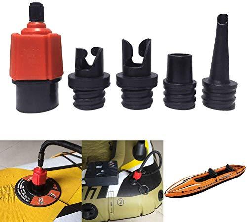 Winzwon Aufblasbarer Adapter SUP-Pumpenadapter Luftpumpenkonverter, 4PCS Standards Konventioneller Luftventilaufsatz für Schlauchboot, aufblasbares Bett