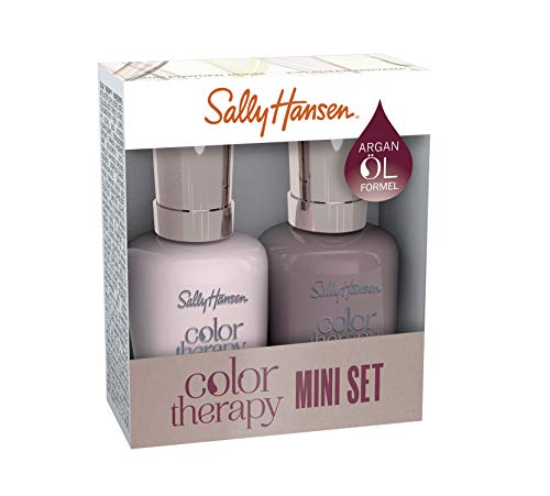 Sally Hansen Color Therapy Nagellack mini Duo Pack Farbe 220 + Farbe 517 Rosy Quartz + Dusty Plum, 10 ml