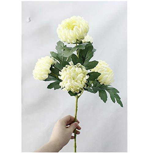 NIRIBALLA Grandes Maravillas crisantemo Flores de Seda Artificial Flores Floores Inicio Boda DIY Decoraciones Falsas Plantas Rama Guirnalda Fleur (Color : Green)