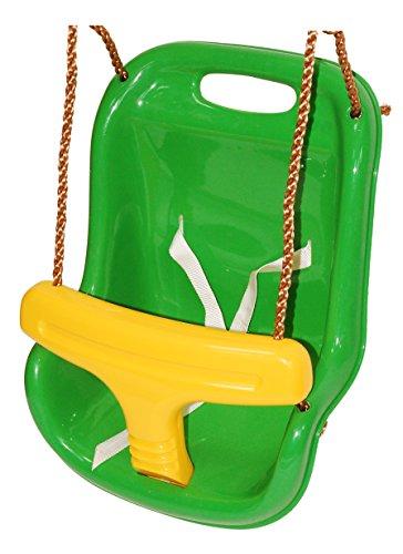 OTITU Just Fun Asiento Columpio de plástico para bebé - Manzana Verde-Amarillo
