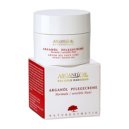ARGAND'OR vegane Arganöl Pflegecreme 50ml Für normale und sensible Haut Feuchtigkeits-Gesichtspflege Tagescreme und Nachtcreme Ideale Make-up Unterlage Vegan