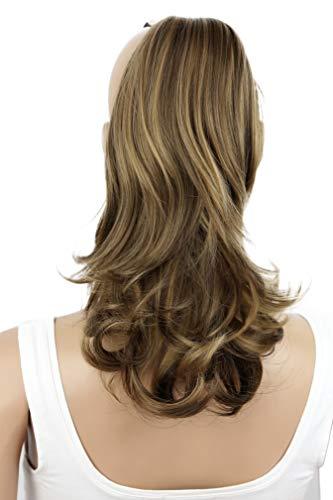 PRETTYSHOP 30cm Postiche Natte Queue De Cheval Extensions De Cheveux Volumineux Ondulé Mélange Brun H60