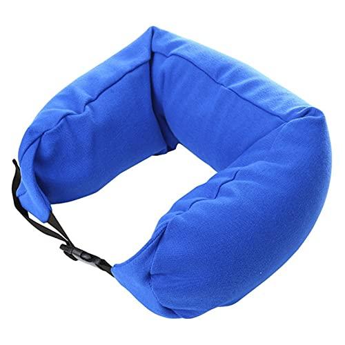 Nawxs Almohada en Forma de U Inflable Pillow U Almohada Viaje al Aire Libre Portátil Portátil Pillow Pillow Viaje Avión Almohada (Color : Blue)