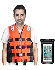 ライフジャケット Mistore 360度反射帯付き 救命胴衣 呼び笛付き フローティングベスト 大人用 多ポケット 強い浮力 4サイズに選択可能 男女兼用 釣り 漂流 海水浴 川遊び 湖 キャンプなどに最適 小型船舶用