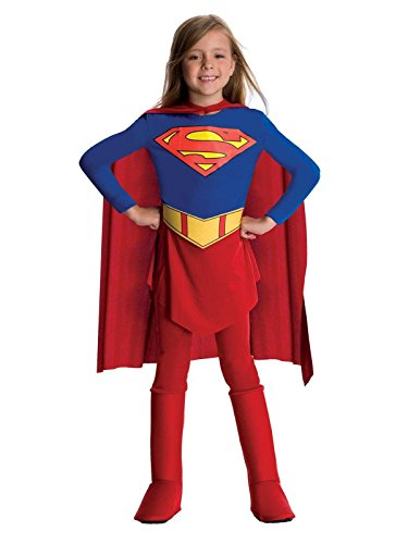 Rubie's DC Comics Supergirl Child's Costume (Small), Red