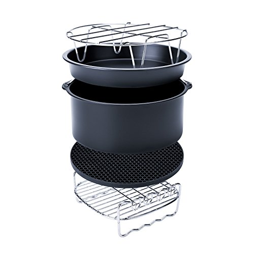 Air fryer Accessories set of 5,gowise air fryer accessories from Smartdoo for Gowise Phillips and Cozyna or More Brand, fit all 3.7QT-5.3QT-5.8QT