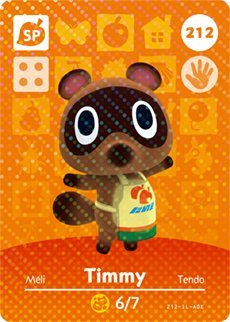 Timmy - Nintendo Animal Crossing Happy Home Designer Amiibo Card - 212