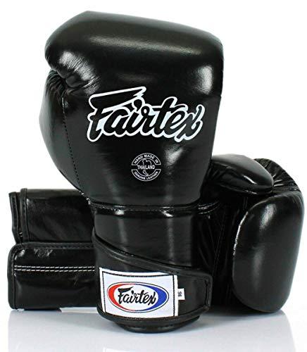 Fairtex BGV6 - Guantes de boxeo, color negro, artes marciales mixtas, muay...