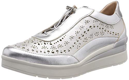 Stonefly Cream 15 Laminated Lth, Sneaker Donna, Argento (Silver Metal 058), 41 EU
