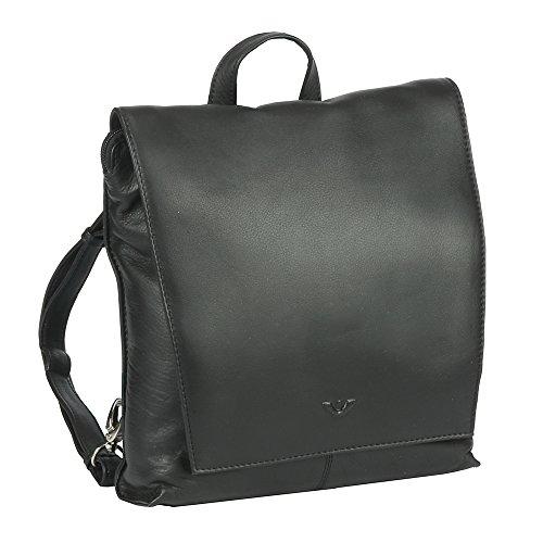 VOi Rucksack 21514 Soft-Leder Damen schwarz: Farbe: Schwarz