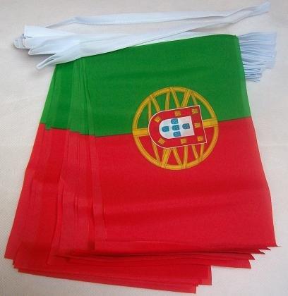 AZ FLAG Guirnalda 4 Metros 20 Banderas de Portugal 15x10cm - Bandera Portuguesa 10 x 15 cm - BANDERINES: Amazon.es: Hogar