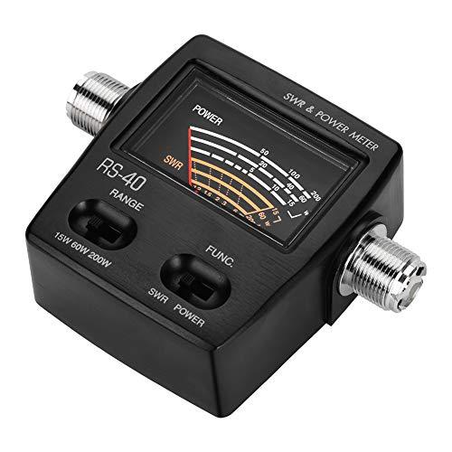Medidor de potencia, medidor de potencia SWR de potencia de 200 W, profesional ligero para usuarios de radio de coche, entusiastas de la radioafición