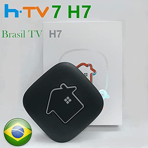 2021 HTV 7 Box Brazil H.TV7 H7 TV Brazil New Version Brazilian TV Box Support 2.4GHz/ 5GHz WiFi 4K UHD Bluetooth 4.2