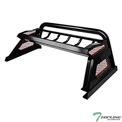 TLAPS 7422453765771 For 2007-2019 Toyota Tundra Matte Black Cargo Basket Rack Style Chase Rack with Red Honeycomb Mesh Cage