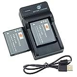 DSTE Li-50B - Batería y cargador para cámara Olympus Stylus 1010, 1020, 1030, 9000, 9010, SZ-10, SZ-11, SZ-12, SZ-15, SZ-20 (2 unidades)