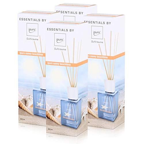 Essentials by ipuro sunny beachtime 200ml Raumduft (4er Pack)