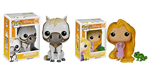 Pop! Disney: Tangled - Maximus Rapunzel & Pascal Pop! Vinyl Figure Set by FunKo