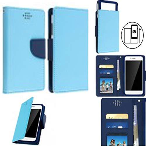 Jollini beschermhoes voor Oppo Reno, Edition FC Barcelona, elegant design, portefeuille, met vakjes voor kaarten en billets, blauw