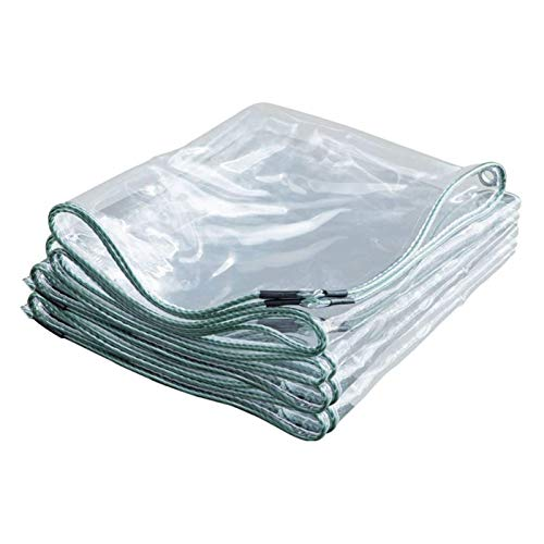 Transparente Lona, Lona Impermeable Resistente Al Viento, Borde Grueso, Plegable, Transparente, Calor, No Es FáCil De Rasgar, con Agujero De Metal, para Industria(1x2.5m(3.3x8.2ft))