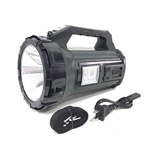 YATONG Projecteur LED Lampes de Poche Portatives Lanterne Torche Rechargeable Étanche 8000mAh avec Modèle à 2 Lumières avec Poignée Portable