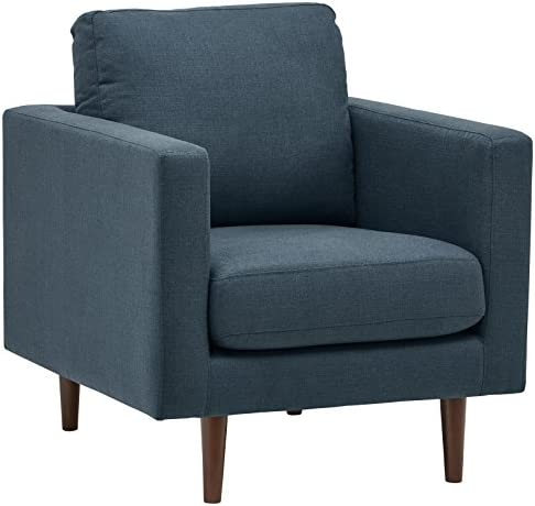 Best Amazon Brand – Rivet Revolve Modern Upholstered Armchair with Tapered Legs, 33\