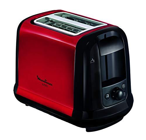 MOULINEX Subito Grille pain 2 fentes rouge toaster Thermostat 7 position Décongetaion Rechauffage Remontrée extra haute LT260D11