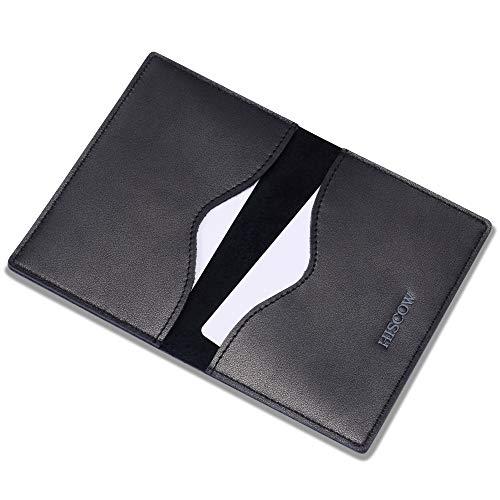 HISCOW Minimalist Thin Bifold Card Holder - Italian Calfskin