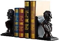 ブックエンドブックエンドホームスタディ本棚デコレーションレジンキャラクターデスクトップデコレーションホームオフィスデコレーション(カラー:ブラウンサイズ:13 * 11.5 * 21cm)-13 * 11.5 * 21cm_褐色