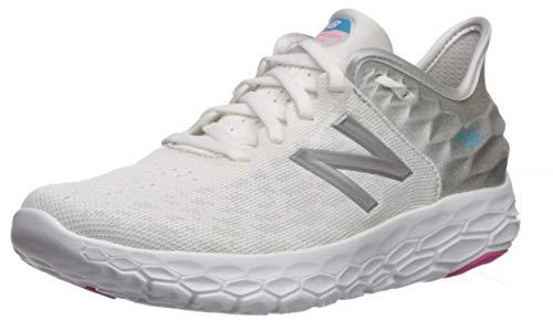 New Balance Women's Fresh Foam Beacon V2 Running Shoe, White/Summer Fog/Bayside, 7